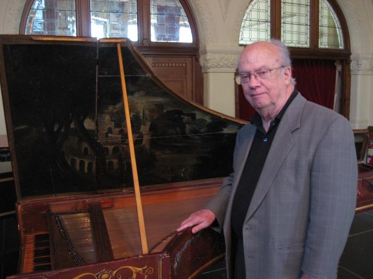 Kenneth Gilbert le 17 juin 2012 à l'Université McGill Photo Antonio Lechasseur